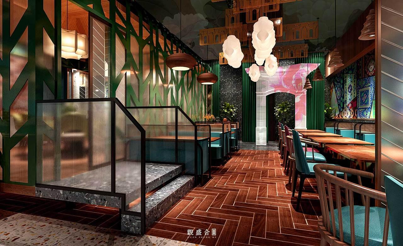 泰国菜餐厅设计——观盛合设计