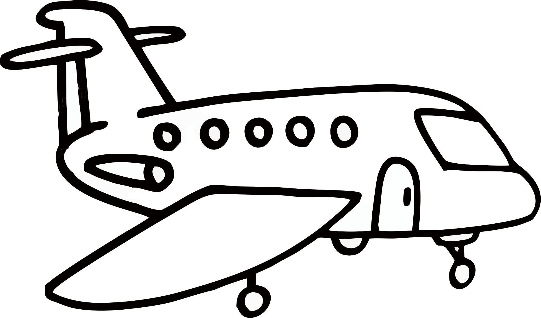 各种飞机简笔画