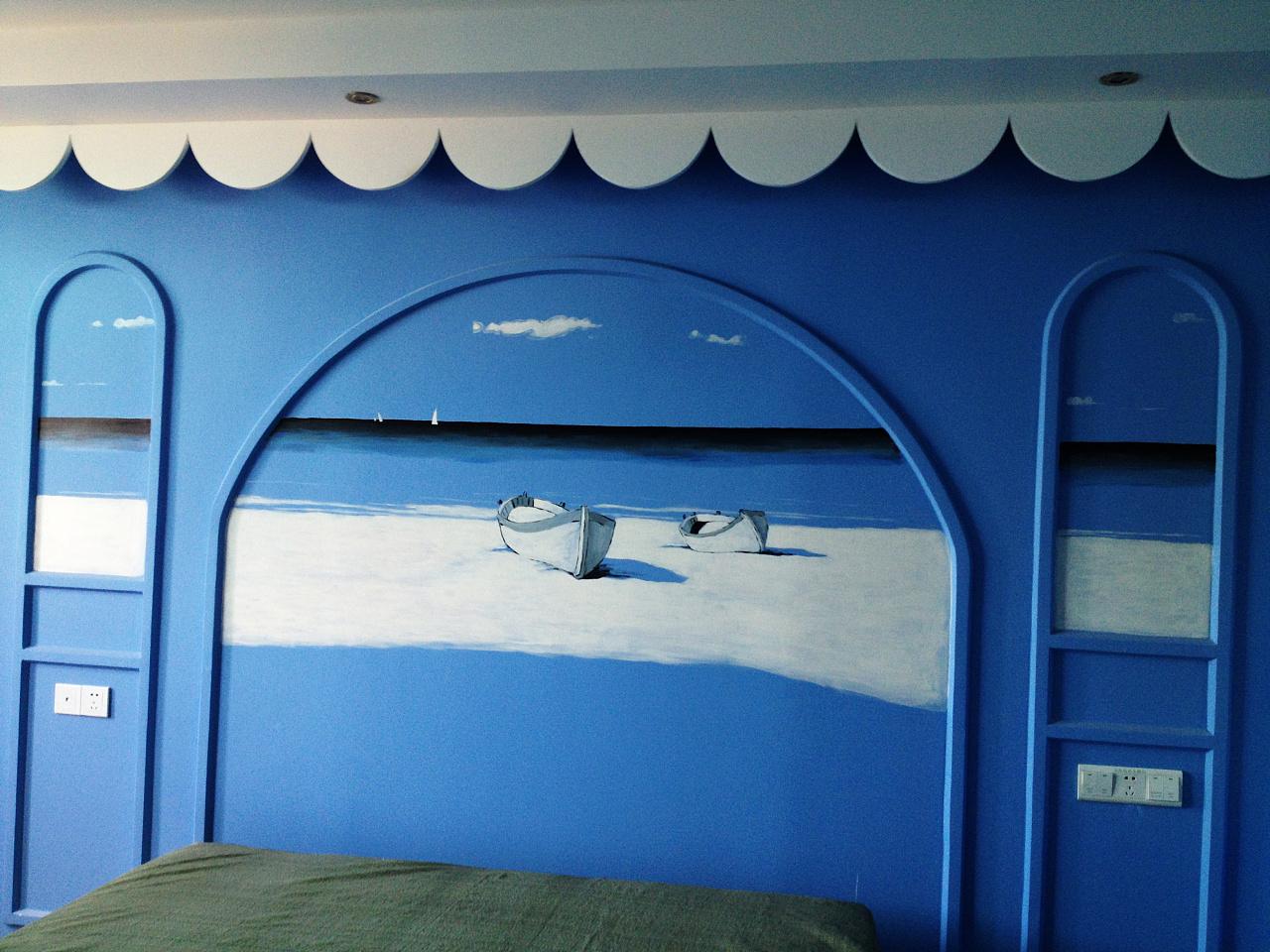 床的手绘效果图