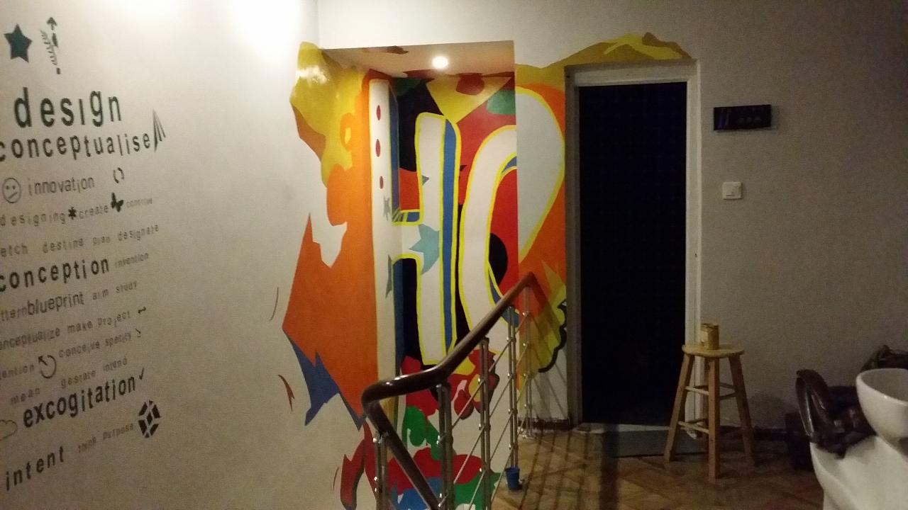 墙绘涂鸦,手绘墙案例