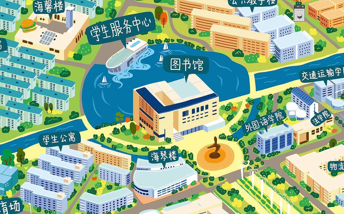 上海高校手绘地图|插画|商业插画|大凤在杭州 - 原创