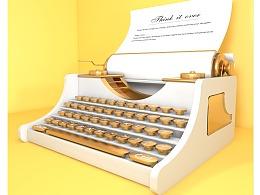 C4D-打字机练习