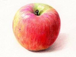 彩铅苹果教学步骤