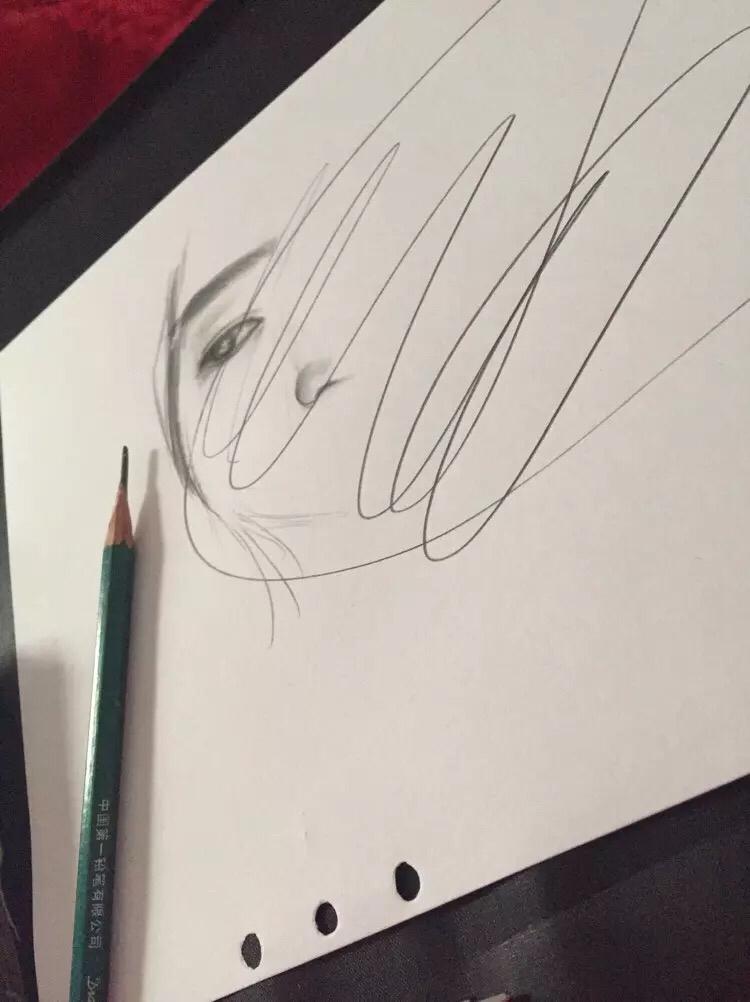 彩铅手绘|彩铅|纯艺术|小花妹妹
