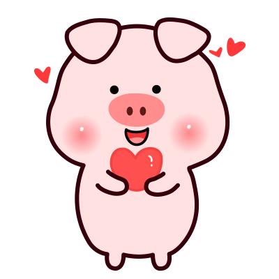 小笨猪头像 微信表情包小笨猪情侣头像图片