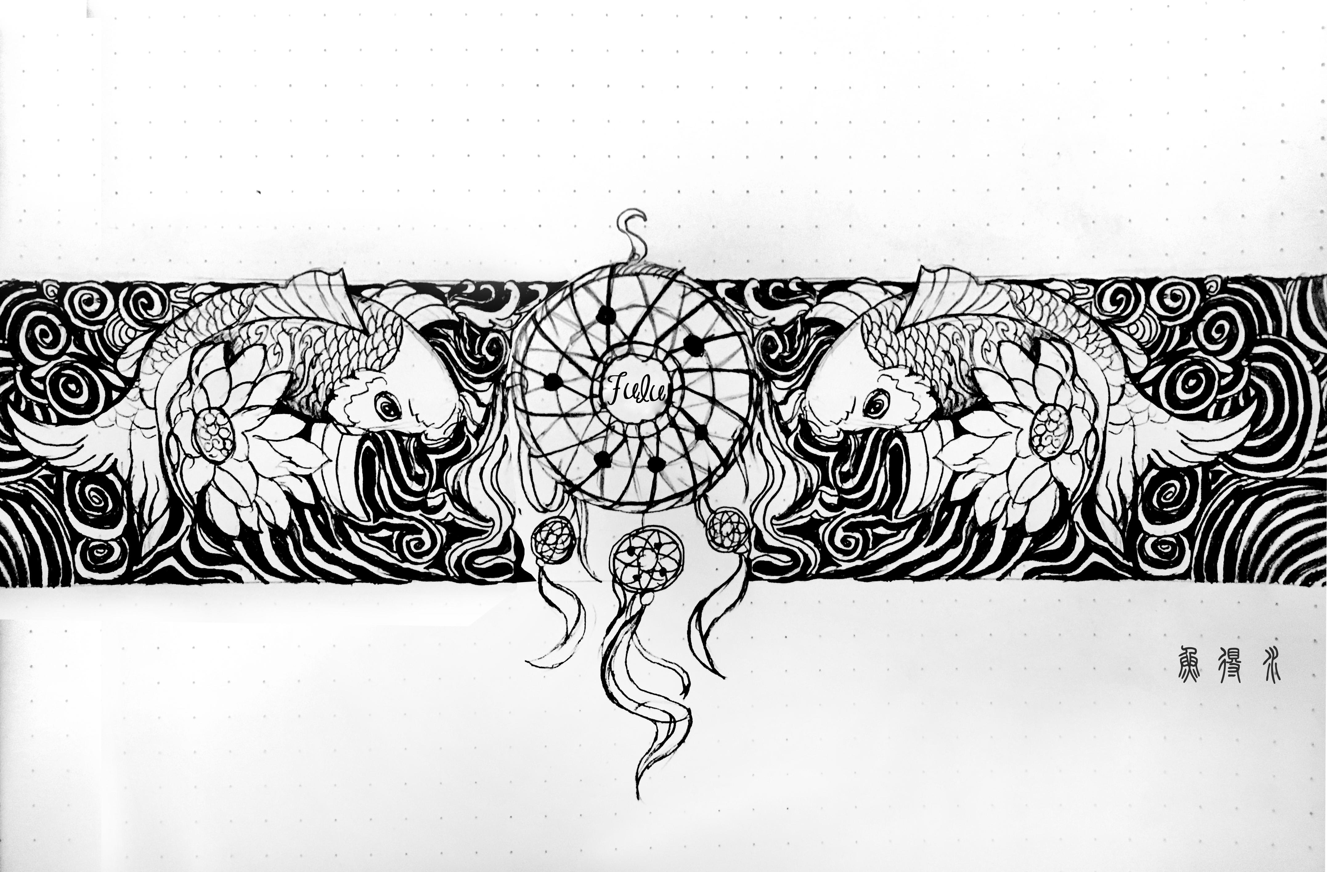 城堡纹身手稿
