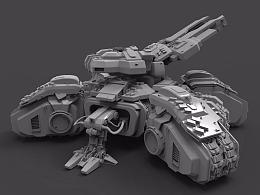 《星际争霸攻城坦克制作》