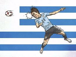 2018年俄罗斯世界杯乌拉圭球星——卡瓦尼
