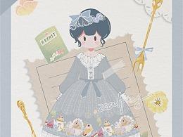 ♤ 三色堇茶会兔♤立绘海报