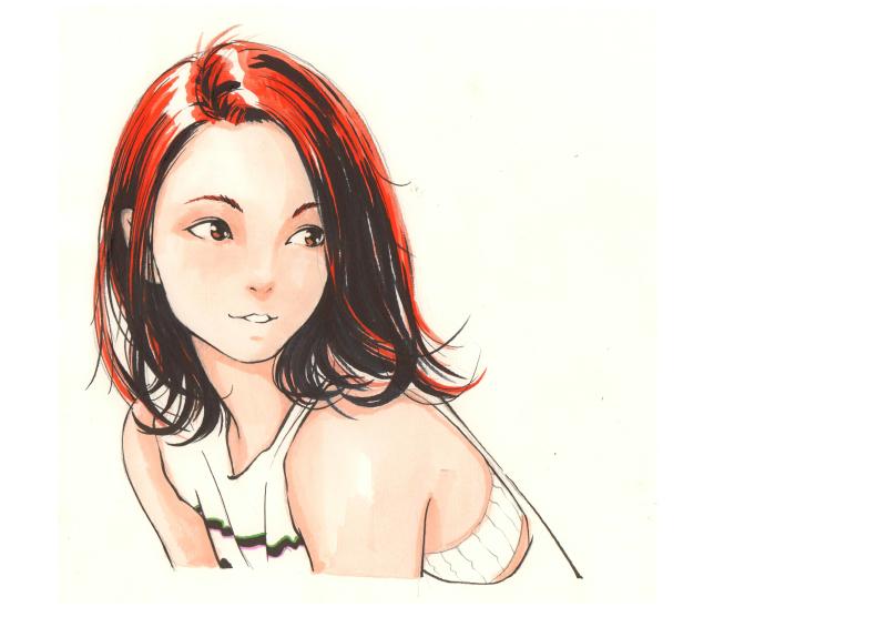 手绘哲:女孩子绘画步骤图|肖像漫画|动漫|骏一绘工作