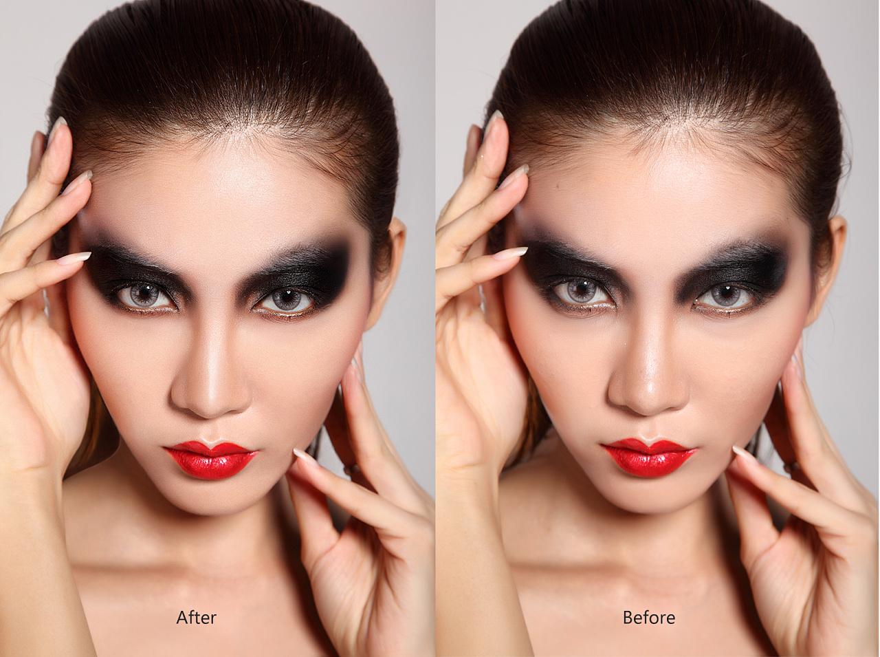 龙虎造型彩妆人像修图图片