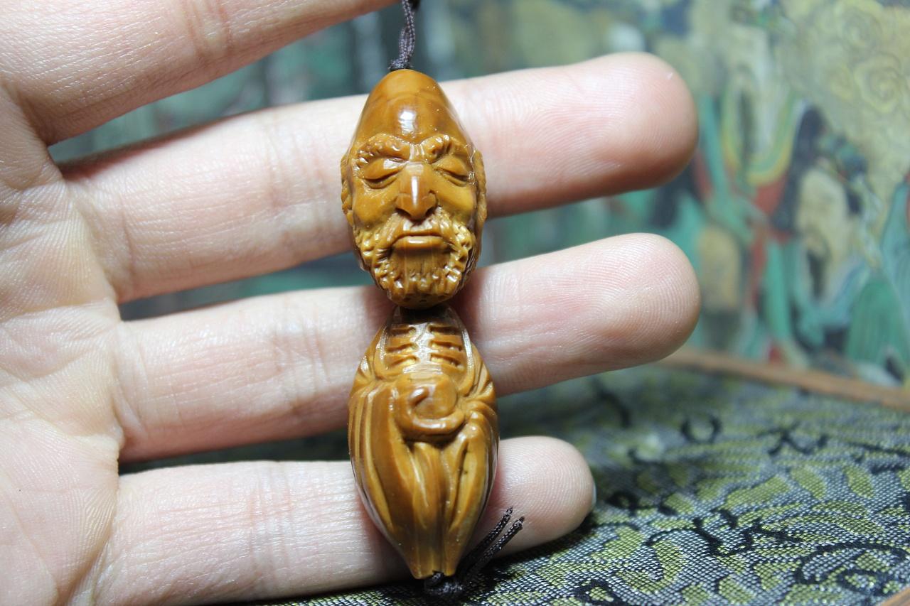 橄榄核雕刻,达摩祖师 - 原创作品 - 站酷(zcool)图片
