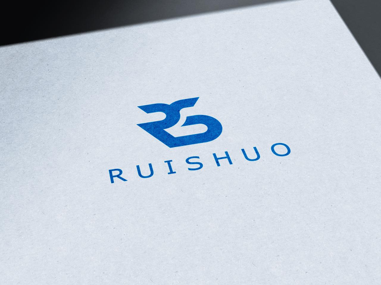 客户要求要用首字母rs为主要元素做logo设计图片