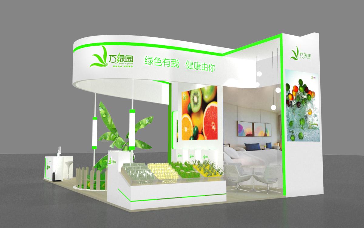 万绿园展台设计|空间|展示设计 |刘欧云 - 原创作品