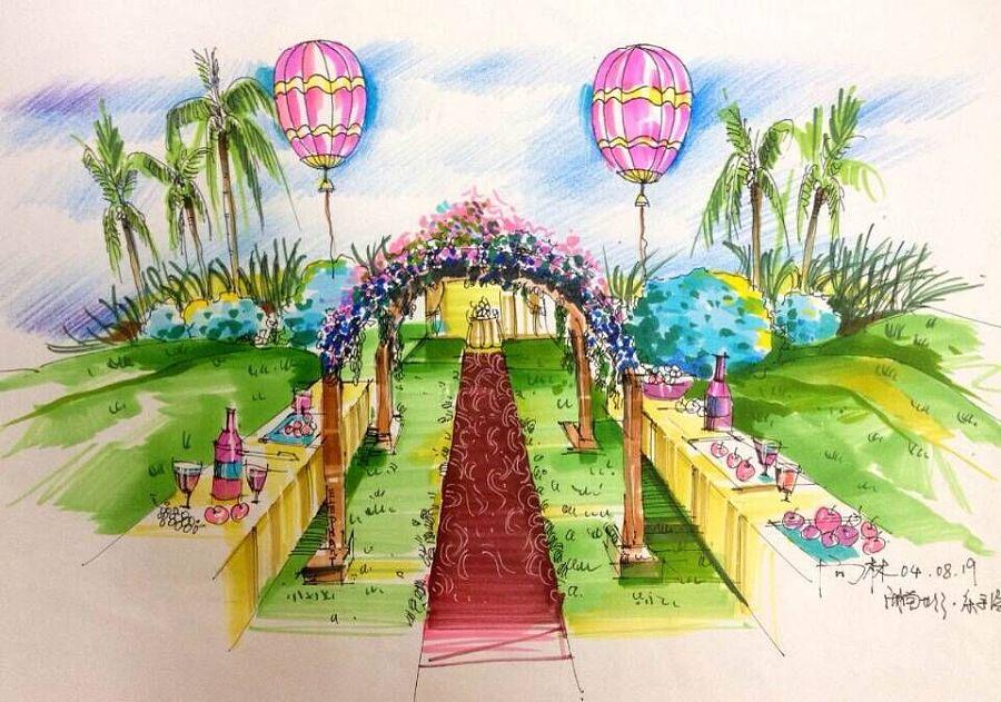 长沙--大象(向)主题婚礼手绘学院|其他|其他|