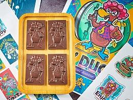 XX鸭 与 OO兔 创意巧克力!