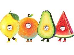 原创插画——水果先生系列