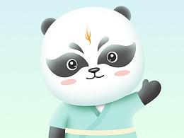 国潮熊猫涂装设计
