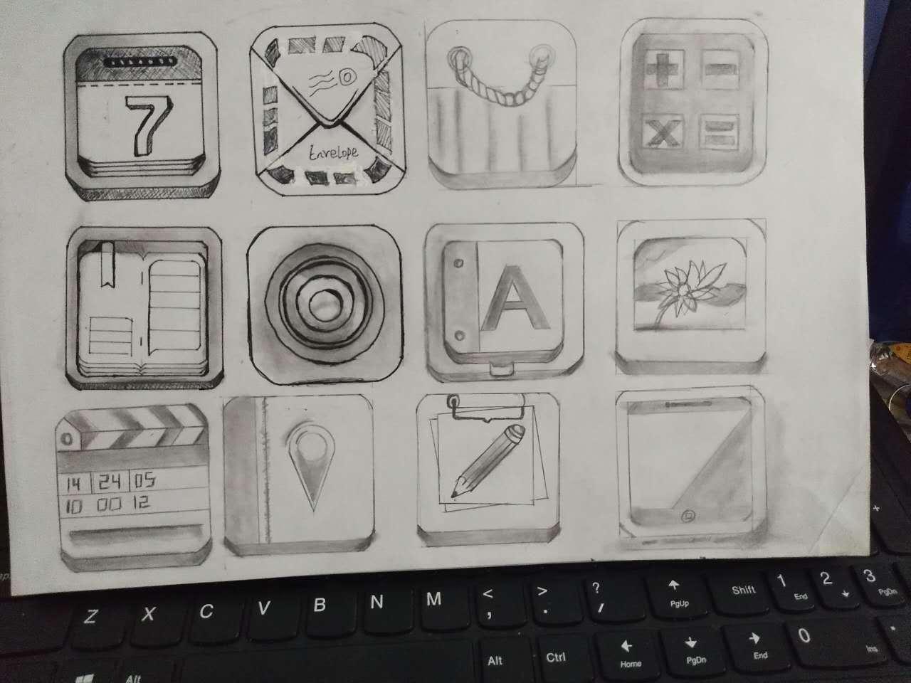 手绘图标 ui 图标 mike_yen - 原创作品 - 站酷