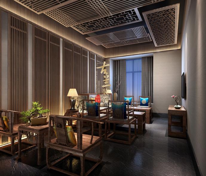 《茶席商务时装茶楼设计大学》--里昂文化案例华阴商务设计茶楼图片