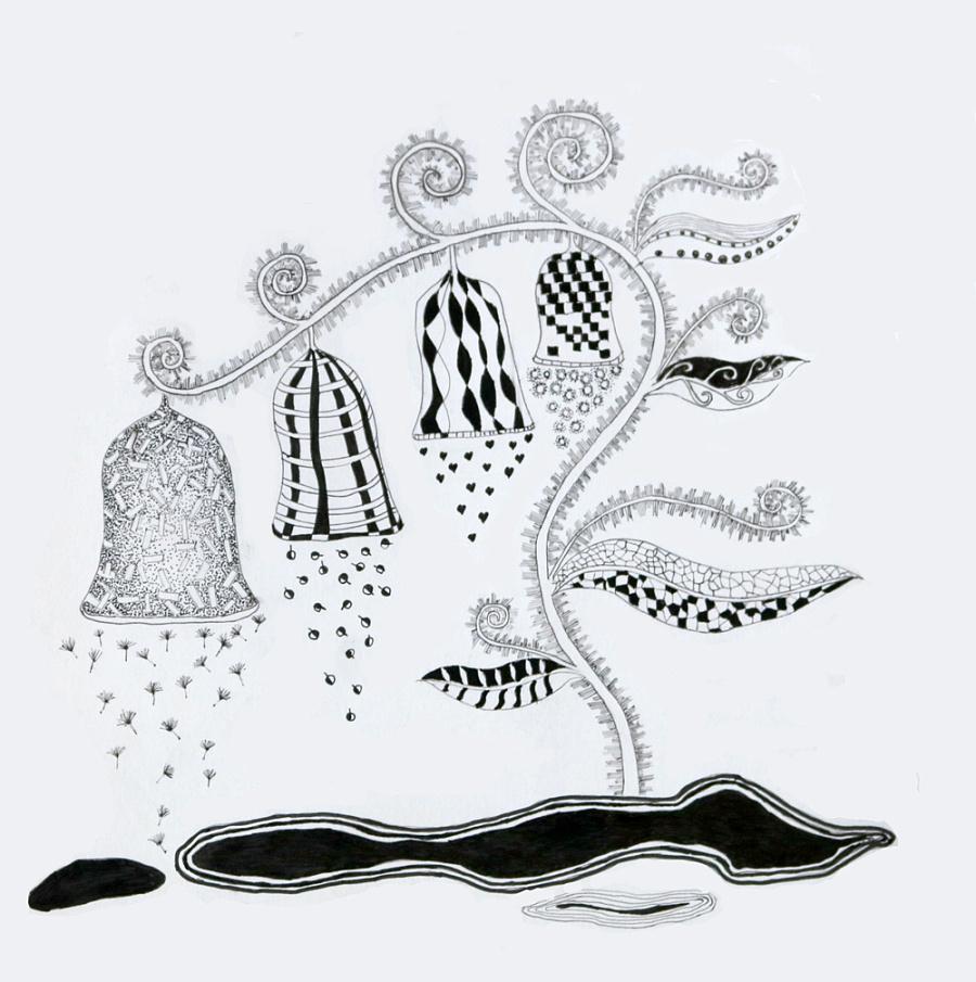 针管笔手绘|插画习作|插画|枫言风语
