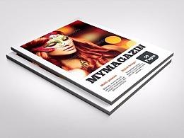 50页杂志风格画册模板