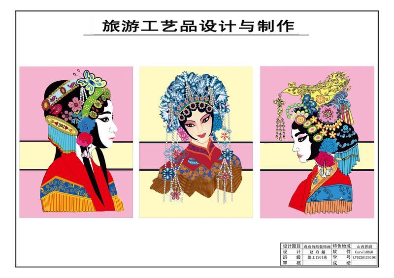 彩色人物造型装饰画