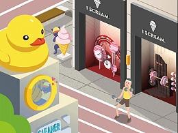 时代街区奇妙物语:橱窗中的未来社区生活构想图