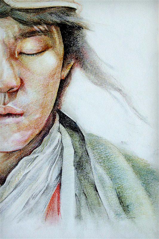 至尊宝手绘伤感图片素描