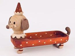 红腊肠-木盘 Moil's handmade