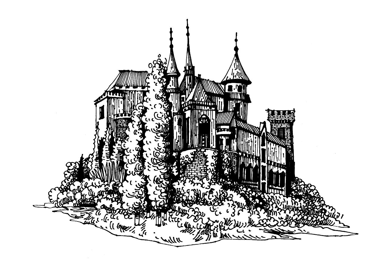 城堡路线图手绘