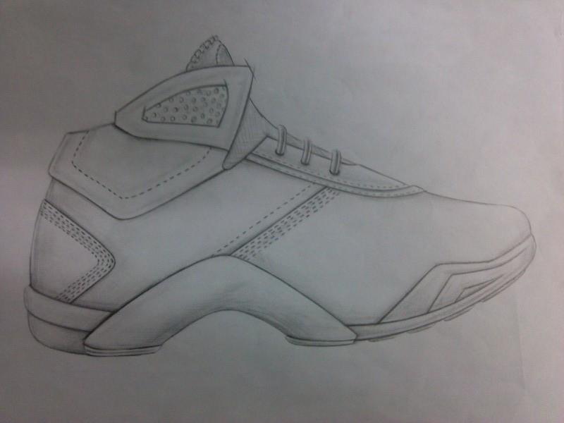 旅游鞋素描结构图