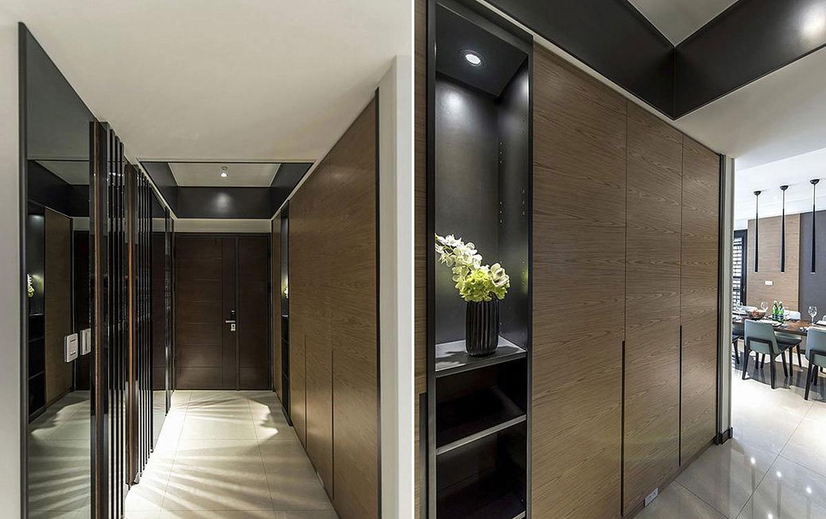 长条形大平层别墅别墅装修设计案例-专业高端别墅设计图片