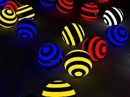 C4D制作发光小球教程