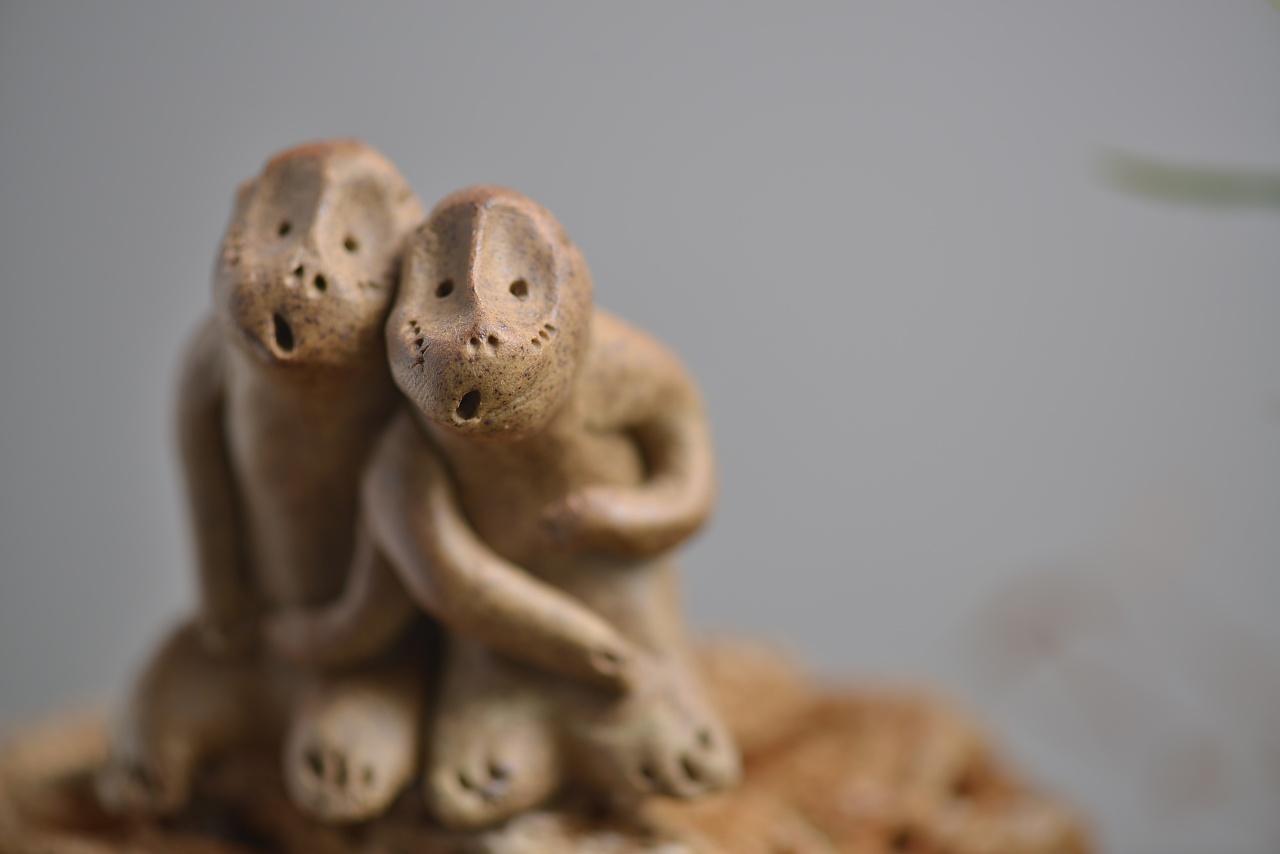 景德镇天禽陶瓷动物猴子摆件礼品工艺品