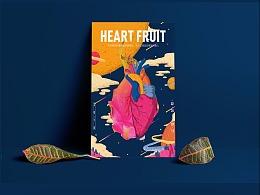 LINLIN DESIGN WORK SHOW-heart fruit-手绘