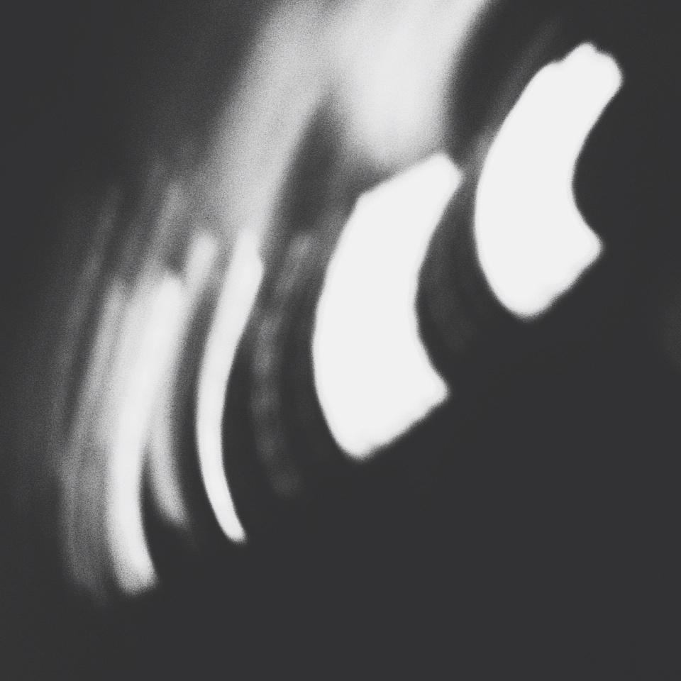 星空手绘黑白装饰画