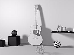 C4D吉他练习