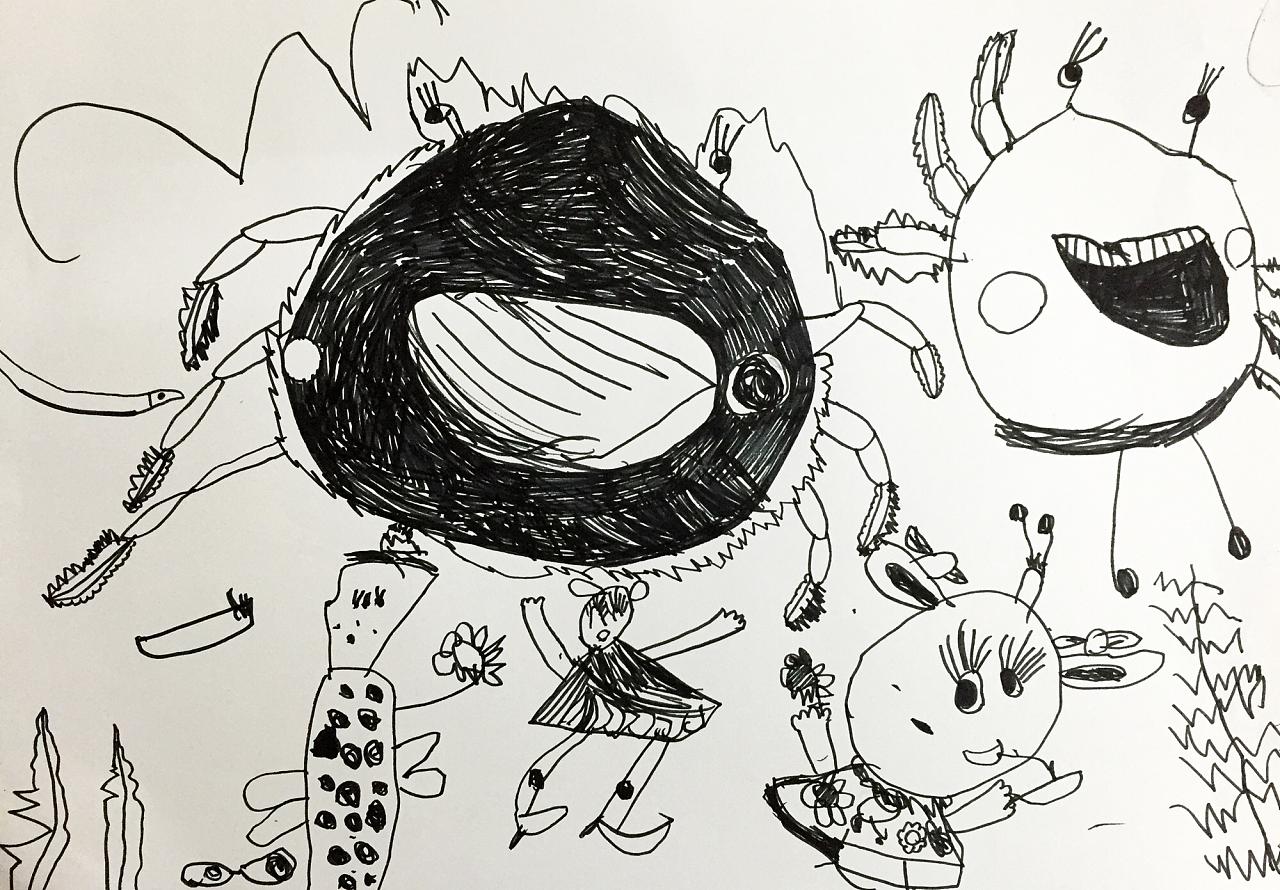 三岁半到四岁小孩的绘画成长记录 一步一个脚印走下去
