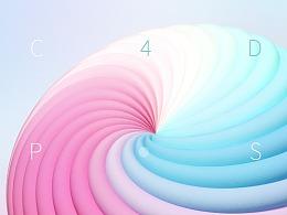 三维建模:《C4D制作漂亮的螺旋元素》