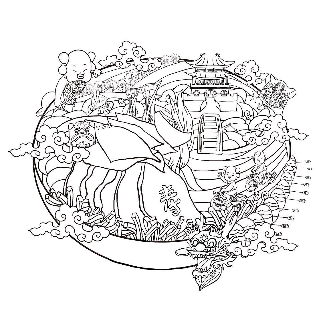 简笔画 设计 矢量 矢量图 手绘 素材 线稿 1136_1136