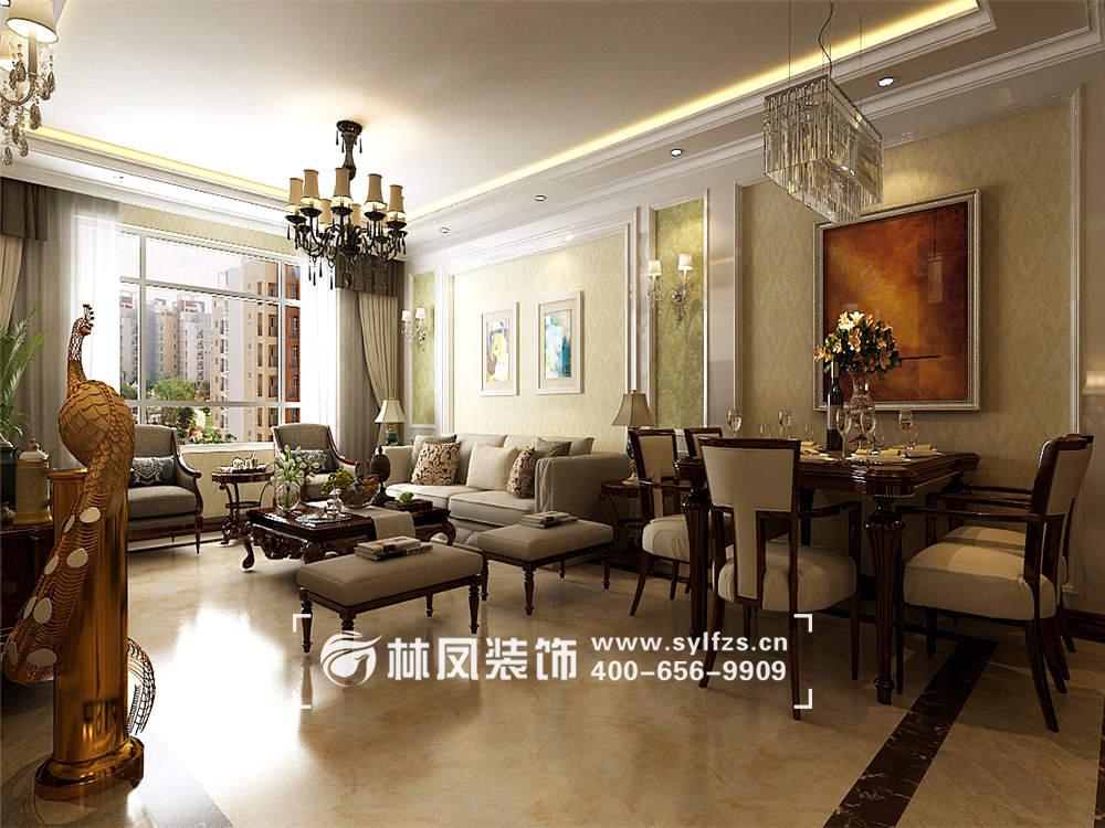 万锦香樟树欧式图集130平装修效果图家居装修设计风格图片