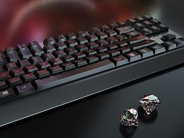 一款键盘     建模+渲染