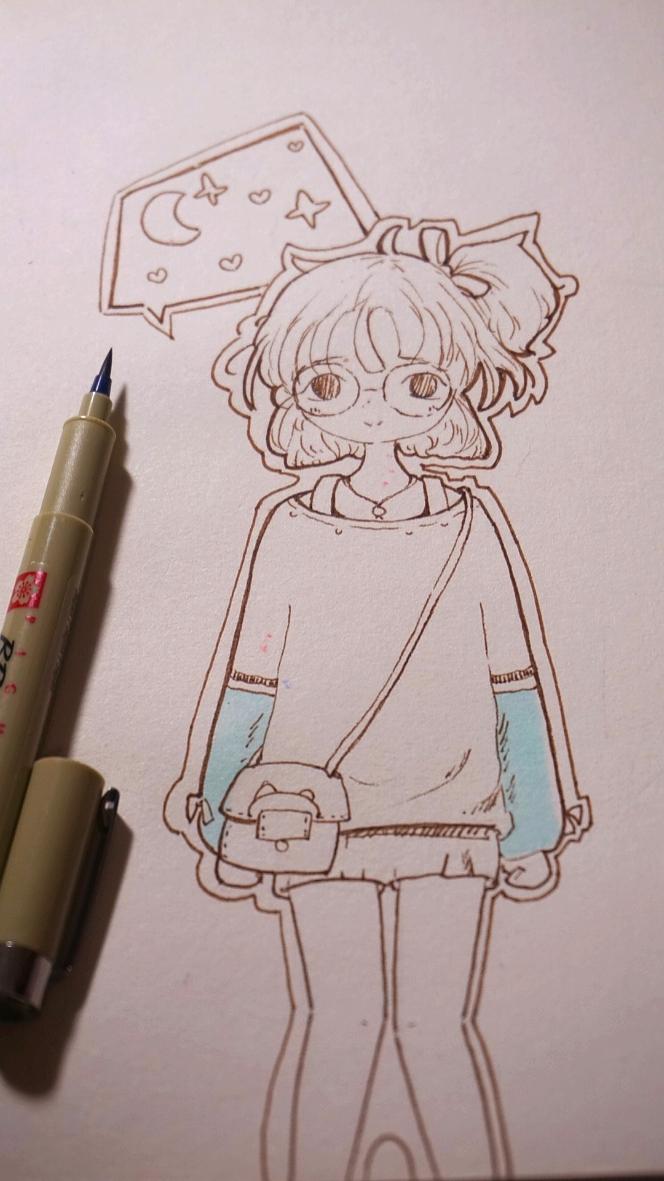 睡觉前的手绘小练习