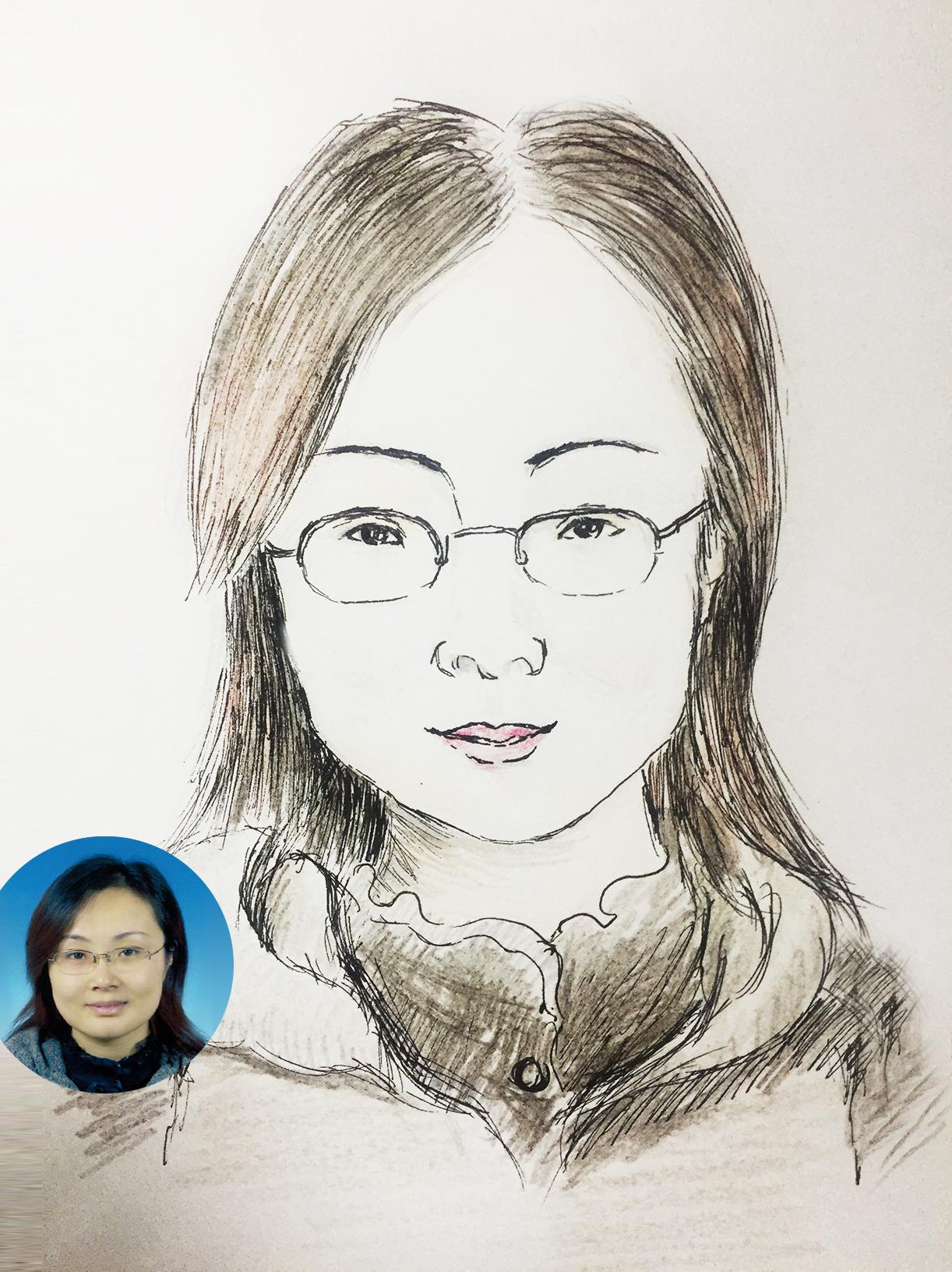 肖像定制手绘(卡通 手绘女孩男孩,儿童素描插画)