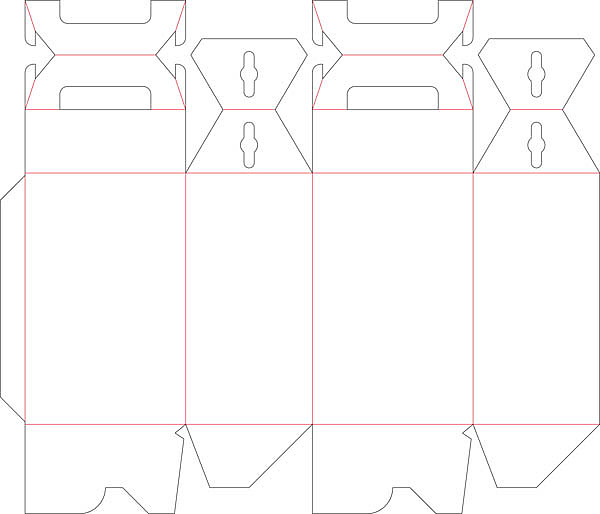 纸盒包装结构展开图(一) - 包装设计 - 东经易网微