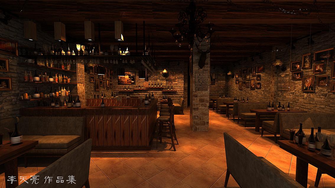 美式复古风格-酒吧|空间|室内设计|sunny天亮 - 原创