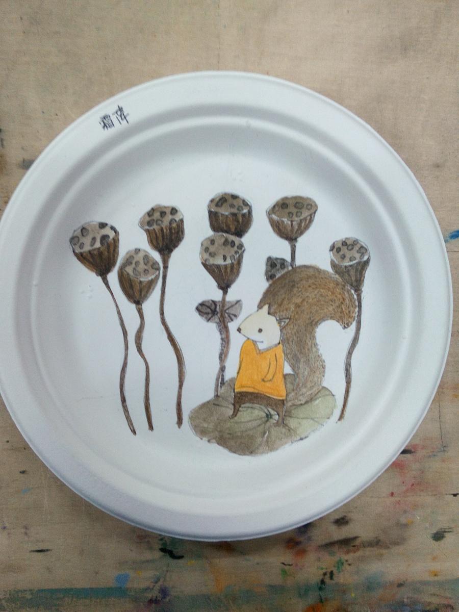 手绘盘子,24节气