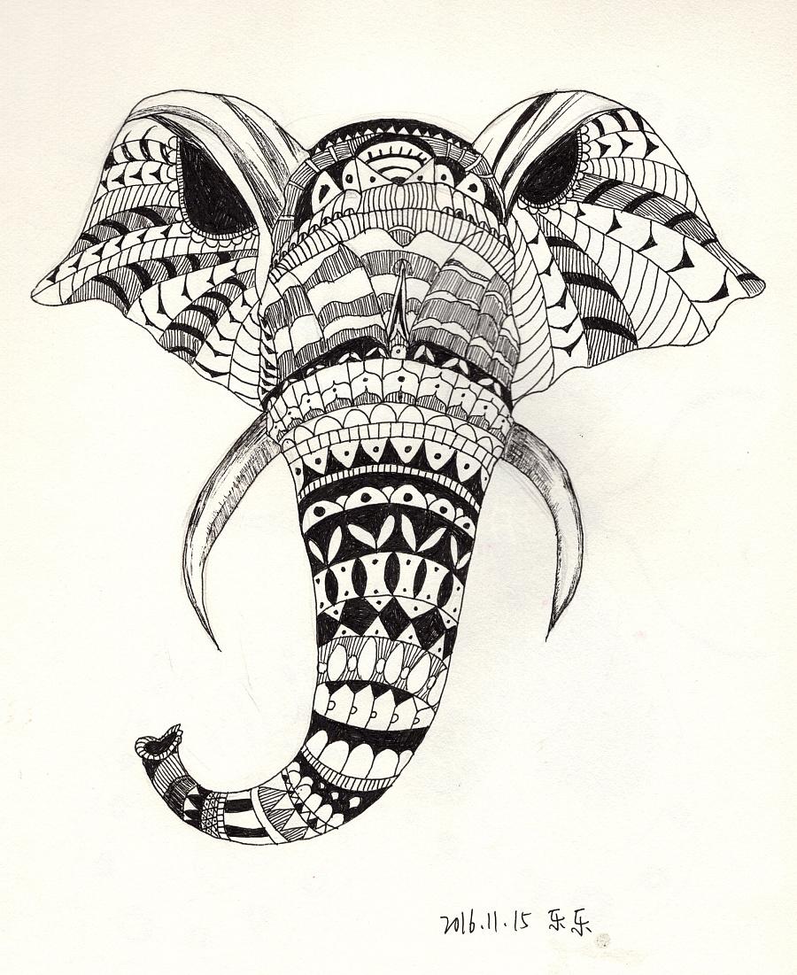 手绘-黑白画|其他绘画|插画|乐幽子图片