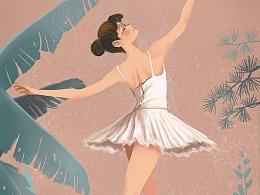 跳芭蕾的女娃儿